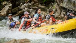 Guests rafting with NOC