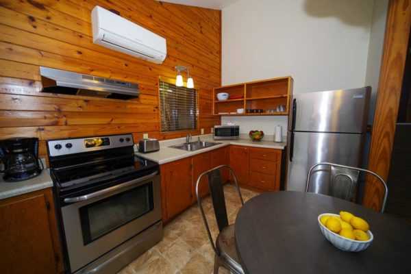 Kitchen in Ash Cabin