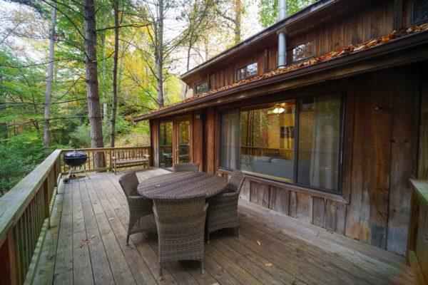 exterior of ash cabin