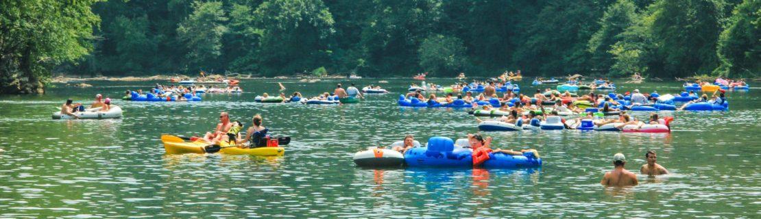 Guests riving tubing in Atlanta, GA