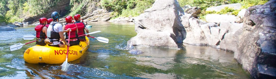 Guests rafting on the Chattooga River Rafting: Section III (with Lunch) trip