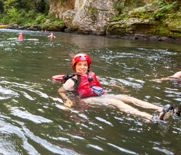 Going for a swim on the Chattooga River Rafting: Section III (with Lunch) trip
