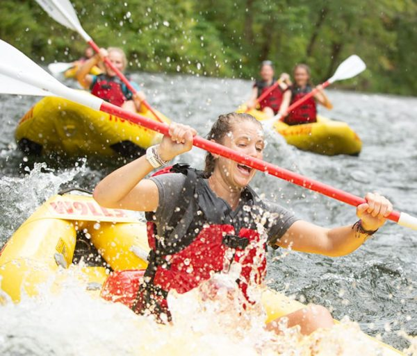 woman duckying on the Nantahala Adventure Pass with Raft or Duck Rentals in North Carolina trip