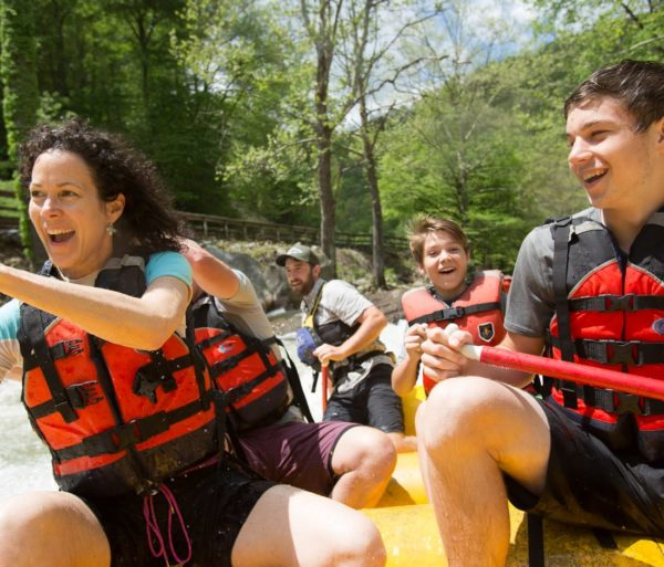 group whitewater rafting on the Nantahala Adventure Pass with Guided Rafting in North Carolina trip