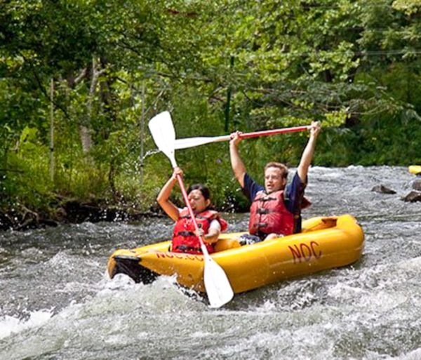 Guests in a ducky on the Nantahala River Raft & Duck Rentals in North Carolina trip