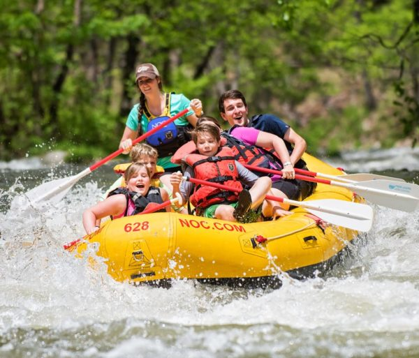 Family rafting on the Nantahala River Rafting: Fully-Guided in North Carolina trip