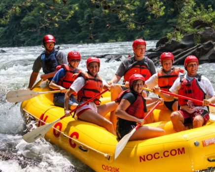 Group rafting on the Ocoee River Rafting: Middle Ocoee trip