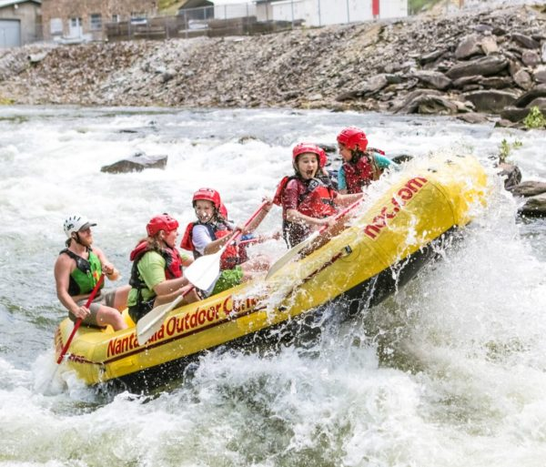 Group going through rapids on the Ocoee River Rafting: Middle Ocoee trip
