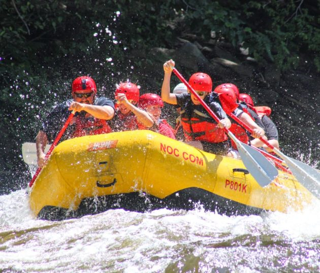 Rafters on the Pigeon River Rafting: Upper Pigeon Gorge trip