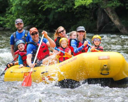 Rafters on the Pigeon River Rafting: Lower Pigeon Gorge trip