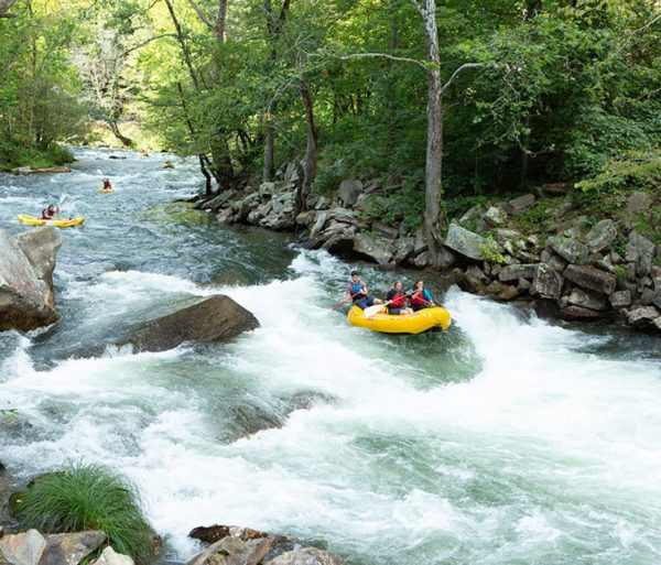 whitewater rafting on the River to Ridge: Rafting and Zip Line trip