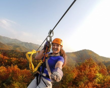 Zip lining on the River to Ridge: Rafting and Zip Line trip