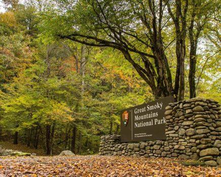 Sign on the Smoky Mountain Adventure trip