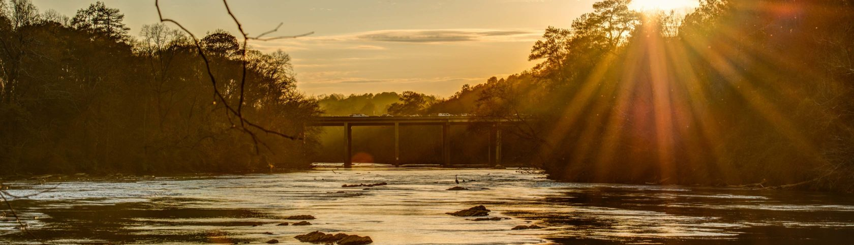 Chattahoochee River at sunset