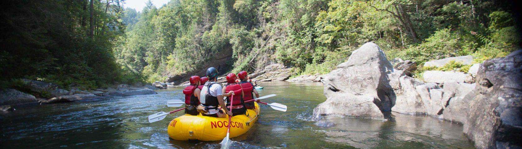 Rafters on the Chattooga River in south carolina