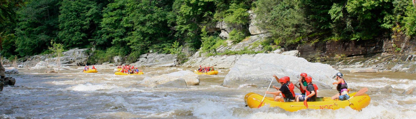 Rafters on the Nolichucky River