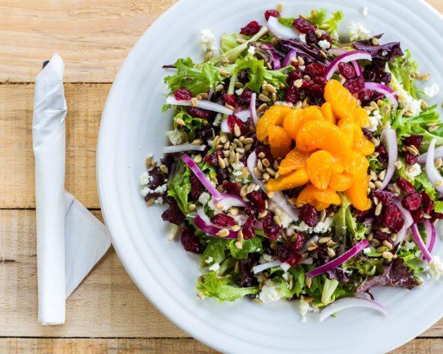 salad at River's End Restaurant