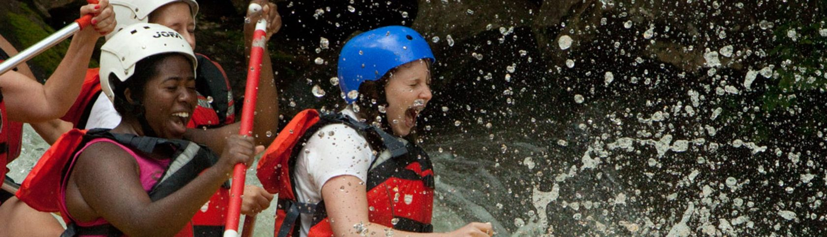 Girl scouts rafting