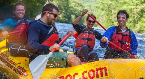 Group rafting on the Nantahala River Rafting: Fully-Guided in North Carolina trip