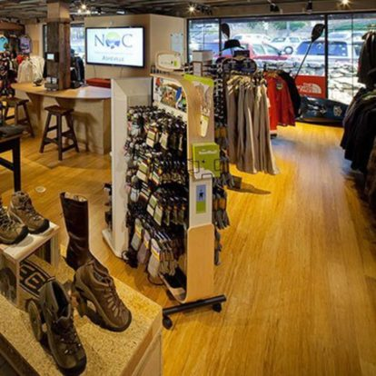 Interior of the NOC Asheville store