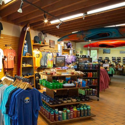 interior of the NOC Outfitter's Store