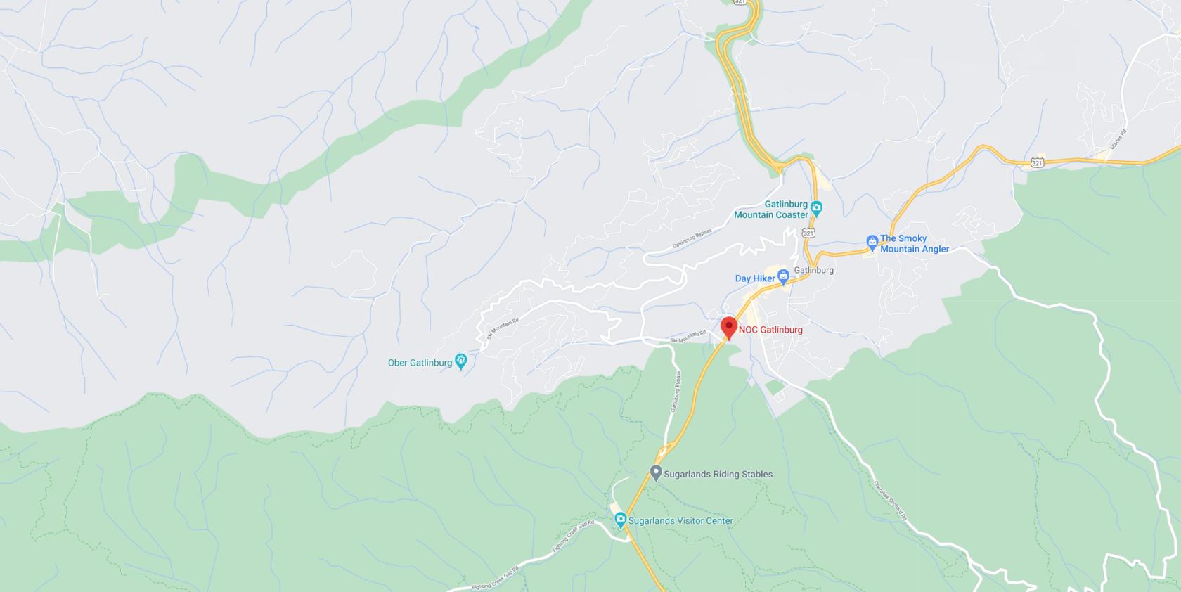 NOC Gatlinburg map