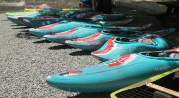 kayaks on the ground