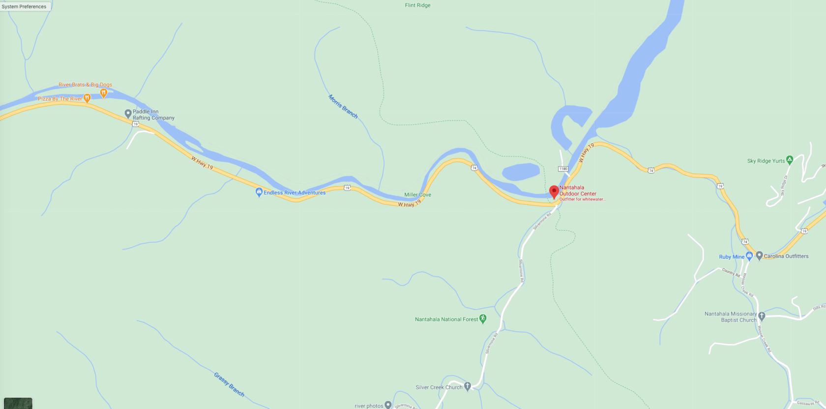 Nantahala map