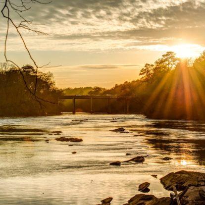 Sunset on the Chattahoochee River