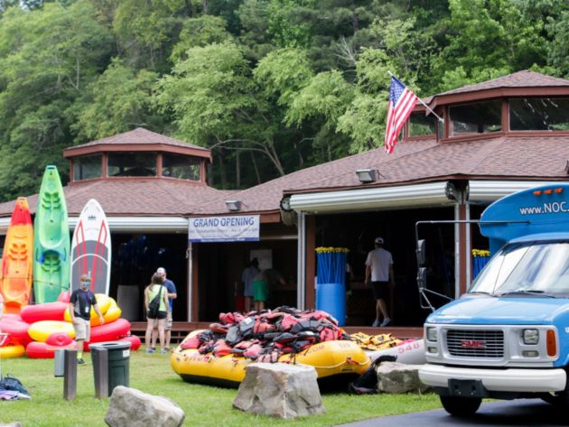 boating gear displayed on front lawn of the Metro Atlanta Outpost