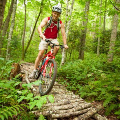 Guest mountain biking
