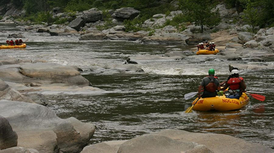 Rafters on the Ocoee River