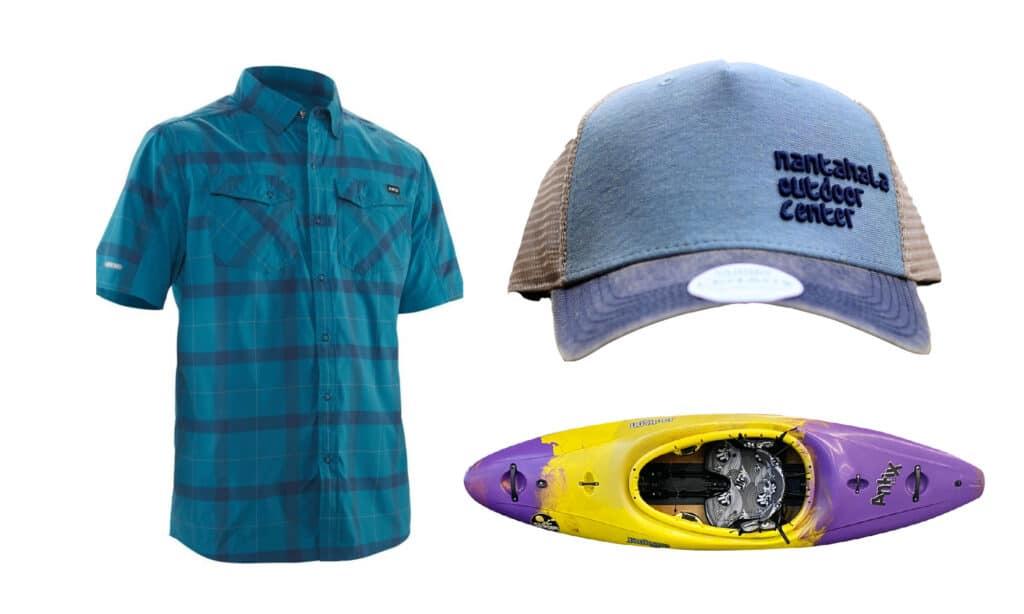 Jackson Antix 2.0, NRS Guide Shirt, NOC Trucker Hat