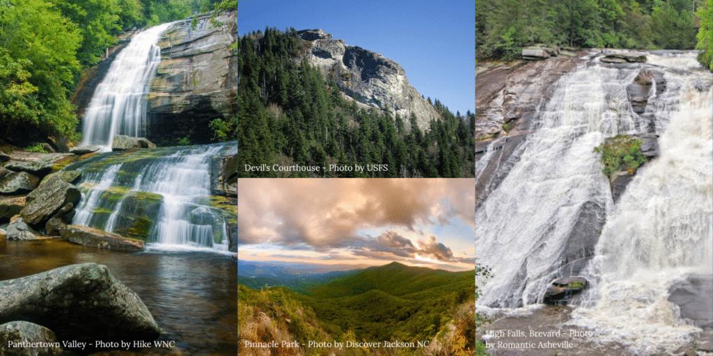 Long Range Mountain Views and Waterfalls in WNC