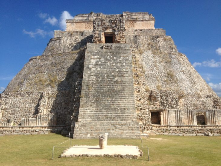 The ruins of a Mayan Temple in the Yucatan.